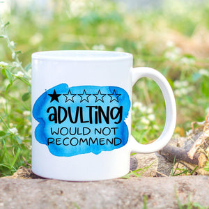 1 Star adult recommend mug by Sew Tilley