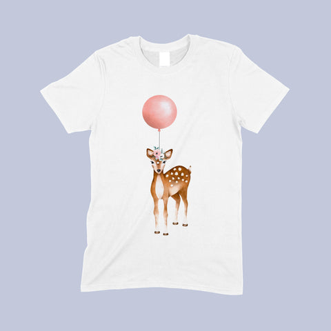 Deer and balloon Child's t-shirt by Sew Tilley