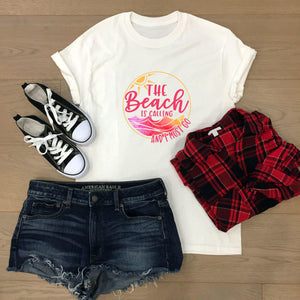 Bright beach women's t-shirt - Sew Tilley