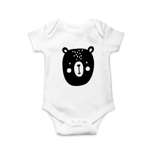 Mono bear baby body suit - Sew Tilley