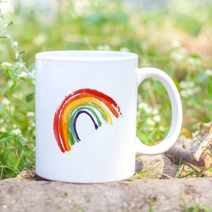 Bright rainbow mug - Sew Tilley