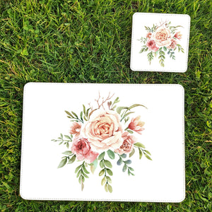 Floral faux leather placemats by Sew Tilley
