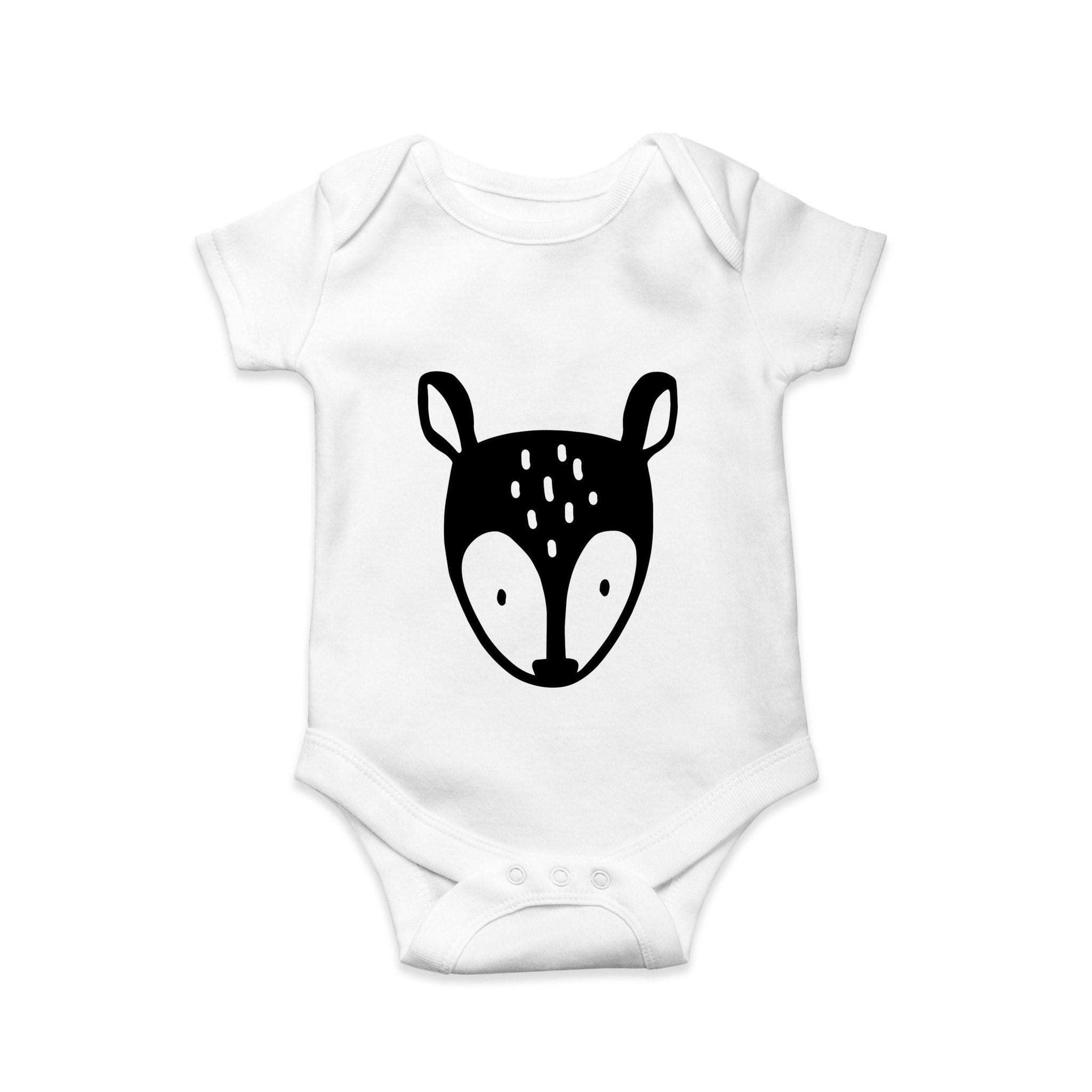 Mono Fawn baby body suit - Sew Tilley