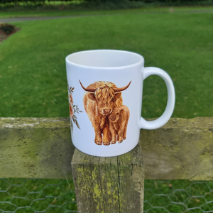 Misprint highland cow mug Dark