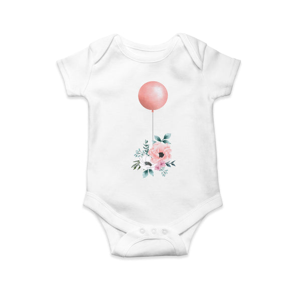 Flowers and ballon baby body suit - Sew Tilley