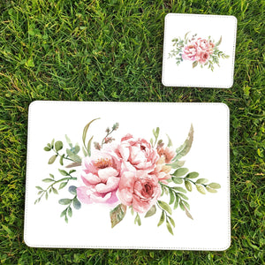 Floral placemat and coaster set - Sew Tilley
