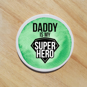 Green Daddy coaster - Sew Tilley