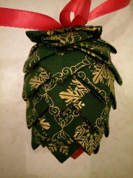 Fabric pine cone tree ornament - Sew Tilley