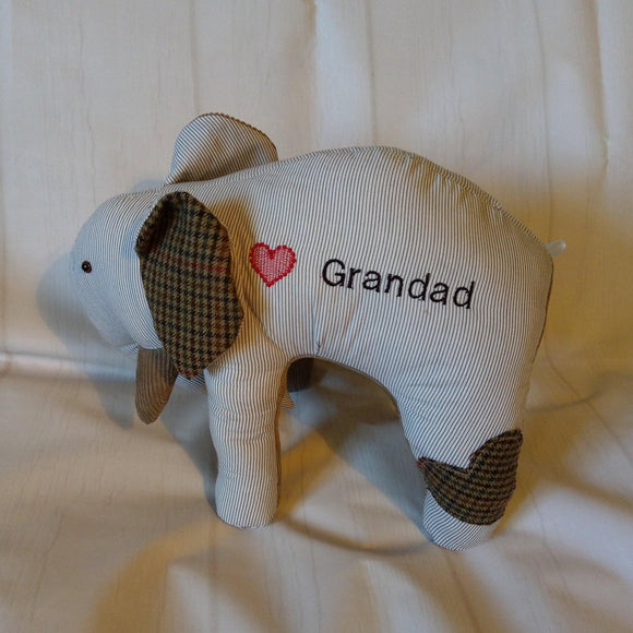 Memory keepsake elephant - Sew Tilley