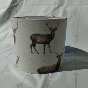 Handmade stag print 20cm lampshade - Sew Tilley
