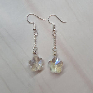 Flower drop earrings - Sew Tilley
