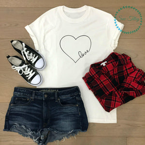All you need is love adults t-shirt - Sew Tilley