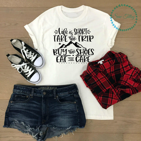 Life is short lady-fit t-shirt
