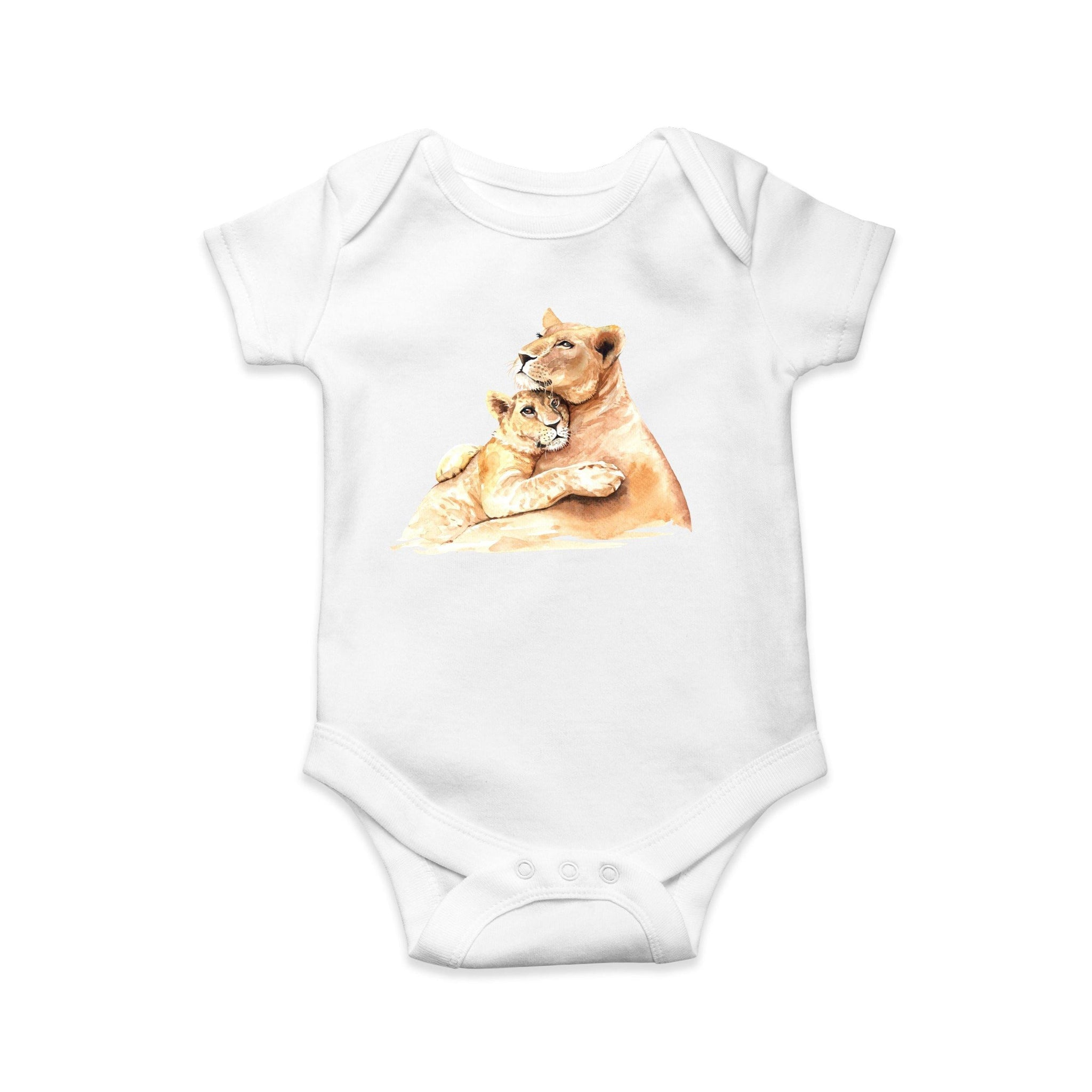 Lion baby body suit - Sew Tilley