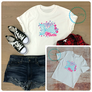 Mummy and me mermaid T-shirts - Sew Tilley