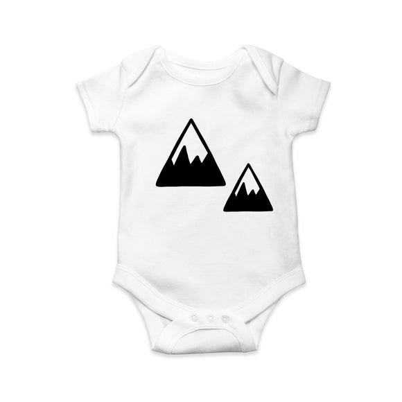Mono Mountains baby body suit - Sew Tilley