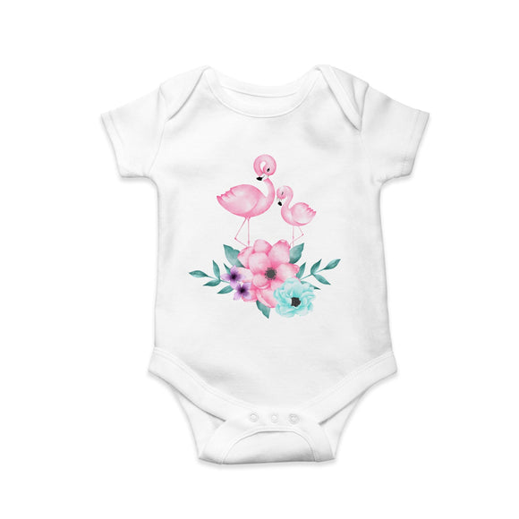 Flamingo baby and mummy baby body suit - Sew Tilley