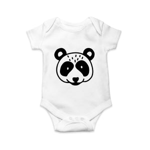 Mono panda baby body suit - Sew Tilley