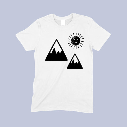 Mono sun and mountain T-shirt - Sew Tilley