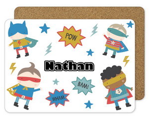 Personalised Superhero Placemat - Sew Tilley