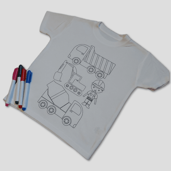 Colour me in t-shirt kit-Kids - Sew Tilley