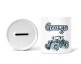 Tractor money box - Blue 6 designs - Sew Tilley
