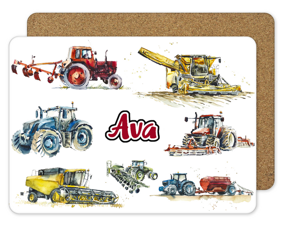 Tractor Placemat - Red - Sew Tilley