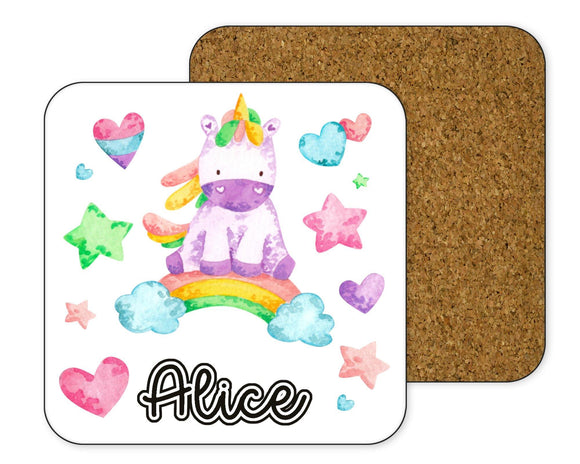 Personalised unicorn Coaster