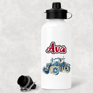 Tractor water bottle - Red 2 lids - Sew Tilley