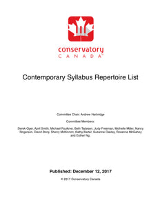 Contemporary Idioms Repertoire List 2018