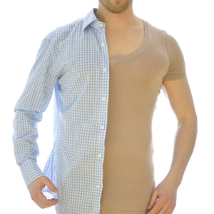 Olen undercover - hidden undershirt let's you have buttons open