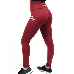 Red High Waisted Leggings