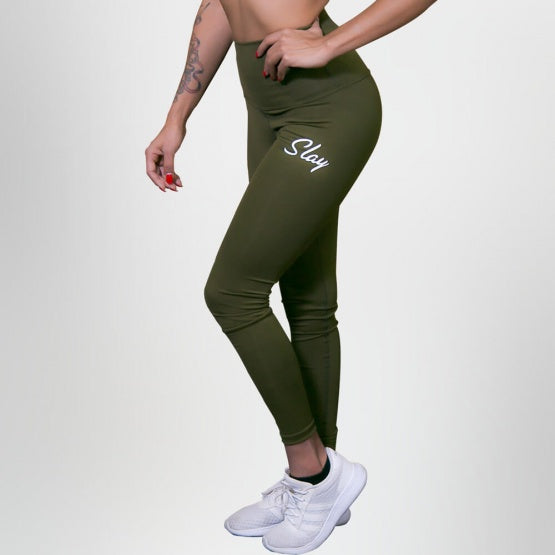 Military Green High Wasted Leggings