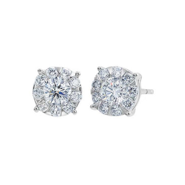 White Gold Bouquet Studs 1