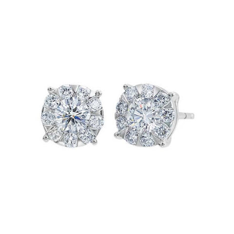 White Gold Bouquet Studs 2
