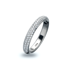 Omega 3 row pave band