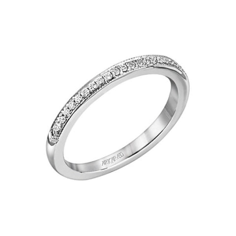 White Gold Calla Wedding Band