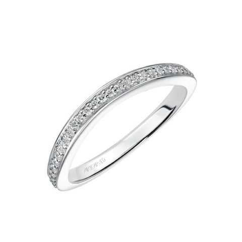 White Gold Flora Wedding Band