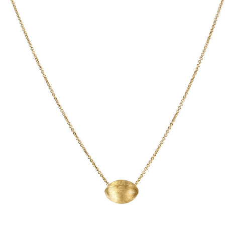 Delicati 18K Yellow Gold Oval Bead Pendant