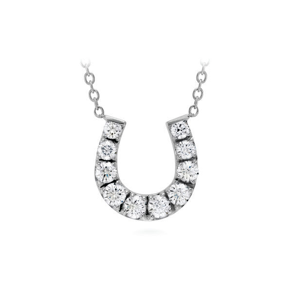 Diamond Horseshoe Pendant - Hearts On Fire