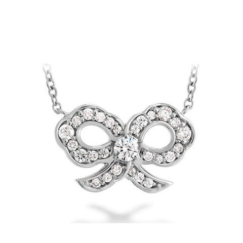 Lorelei Diamond Bow Pendant