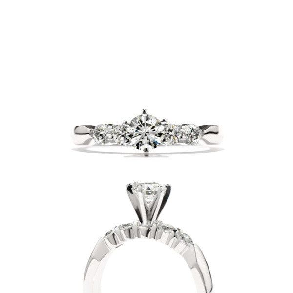 Five-Stone Engagement Ring - Hearts On Fire