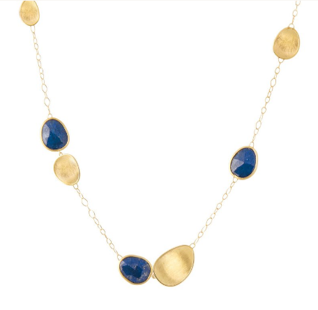 Lunaria 18K Yellow Gold & Lapis Short Chain Necklace