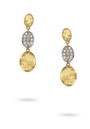 Siviglia 18K Yellow Gold & Diamond Pave Triple Drop Earrings
