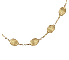 Siviglia Collection 18K Yellow Gold Medium Bead Short Necklace