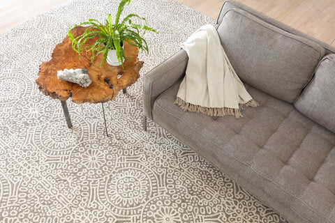 Temple Wool Micro Hooked Rug - Taupe