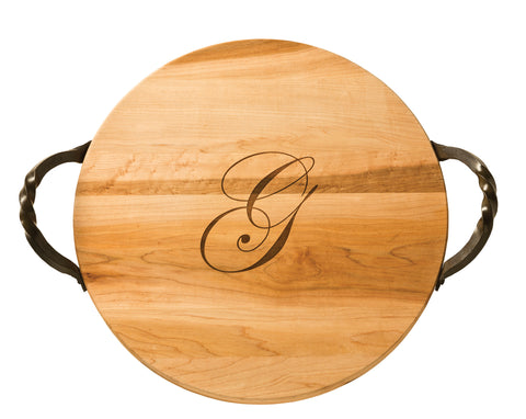 Custom Round Cutting Board/Server - Great Gift Idea!