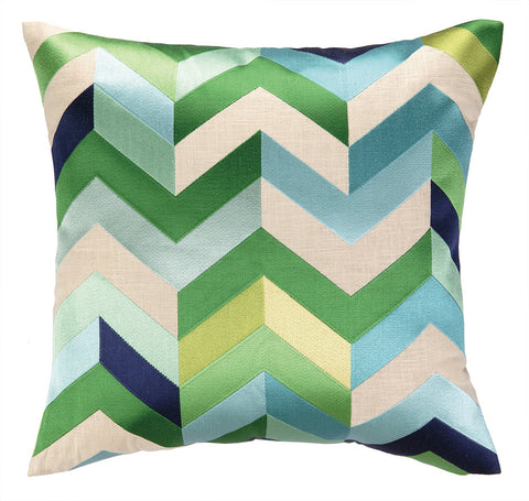 Arrowhead Pillow - Blue Green