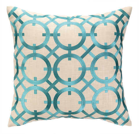 Parisian Lights Pillow - Turquoise