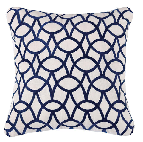 Abbey Pillow - Indigo Blue